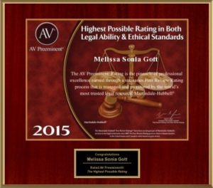 2015 Martindale-Hubbell legal ability and ethics