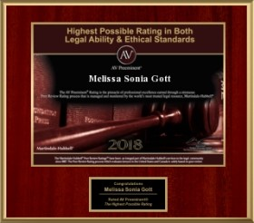 2018 Martindale-Hubbell legal ability & ethics